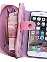 Pour iPhone 8 iPhone 8 Plus iPhone 6 iPhone 6 Plus Etuis coque Portefeuille Porte Carte Petit sac Coque Couleur unie Dur Vrai Cuir pour