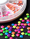 Nail Art Round Punk Alloy Rivet Colorful Square Metallic Studs for Nail Decorations