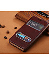 For Samsung Galaxy Case with Stand / with Windows / Flip Case Full Body Case Solid Color PU Leather SamsungS5 Mini / S5 / S4 Mini / S3