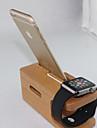 suporte de madeira estande carregador para o relogio Apple e iphone 6 plus / 6 / 5s / 5