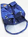 Chien T-shirt Bleu Vetements pour Chien Ete Printemps/Automne Pois Mode
