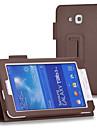 Para Samsung Galaxy Capinhas Com Suporte / Flip Capinha Corpo Inteiro Capinha Cor Unica Couro PU SamsungTab 4 7.0 / Tab 3 7.0 / Tab 3