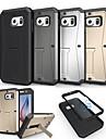 Для Кейс для  Samsung Galaxy Защита от удара / со стендом Кейс для Задняя крышка Кейс для Армированный PC Samsung S6