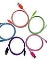 옐로 나이프 애플 MFI는 아이폰을위한 USB 멀티 컬러 브레이드 케이블에 7 기가 플러스 자체 5S / 아이 패드 동기화를 번개 인증 및 충전