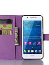 용 삼성 갤럭시 케이스 카드 홀더 / 스탠드 / 플립 / 마그네틱 케이스 풀 바디 케이스 단색 인조 가죽 Samsung A8 / A7 / A5 / A3