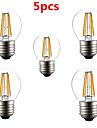 5pcs G45 4W E27 380LM 360 Degree Warm/Cool White Color LED Filament Lamp (AC220V)