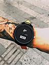 남성 패션 시계 손목 시계 석영 캐쥬얼 시계 가죽 밴드 멋진 블랙