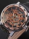 WINNER Мужской Наручные часы Механические часы С гравировкой С автоподзаводом PU Группа Люкс Черный