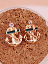 Women\'s Stud Earrings Drop Earrings Fashion Personalized Costume Jewelry Gold Plated Anchor Jewelry For Party Daily Casual