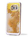 Para Samsung Galaxy Capinhas Liquido Flutuante Capinha Capa Traseira Capinha Brilho com Glitter PC SamsungS6 edge plus / S6 edge / S6 /