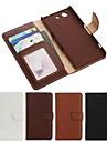 PU кожаный чехол для всего тела с слот для карт и кошелек, и стоять на Sony Xperia z3 компактной / z3 мини