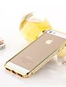 Pour Coque iPhone 5 Strass Coque Antichoc Coque Couleur Pleine Dur Metal pour iPhone SE/5s/5