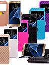 Pour Samsung Galaxy S7 Edge Porte Carte Avec Support Avec Ouverture Clapet Coque Coque Integrale Coque Forme Geometrique Cuir PU pour