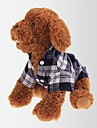 고양이 / 개 티셔츠 레드 / 그린 / 블루 강아지 의류 여름 / 모든계절/가을 격자 무늬 / 체크 캐쥬얼/데일리 / 클래식