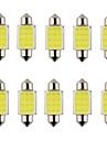 10PCS는 31mm 36mm 39mm 3w 240LM의 6000K 암 나무 열매 램프를 읽고 / 자동차 스티어링 전구 흰색 빛을 주도 꽃줄 (DC12V)