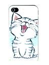 o pequeno estojo rigido padrao de gato para o iphone 4 / 4s