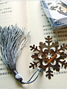 Snowflake Shaped Stainless Steel Bookmark