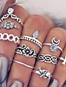Women\'s Statement Rings Knuckle Ring Bohemian European Fashion Vintage Personalized Costume Jewelry Gemstone Alloy Flower Cross Teardrop