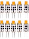 10pcs g4 0705led 1cob 1w 100-150lm blanc chaud / blanc frais / blanc naturel led bi-pin lights