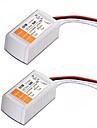 2pcsac 110-240v a 18w convertisseur de tension conduit dc