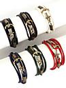 Bracelet Charmes pour Bracelets / Bracelets Wrap / Bracelets en cuir Alliage / Cuir Forme de Ligne Mode Quotidien / Decontracte / Sports