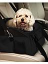 Gato Cachorro Tranportadoras e Malas Cobertura de Cadeira Automotiva Animais de Estimacao Transportadores Portatil Dobravel SolidoPreto