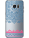 Для Samsung Galaxy S7 Edge Прозрачный / Other Кейс для Задняя крышка Кейс для Геометрический рисунок Мягкий TPU SamsungS7 edge / S7 / S6