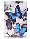 용 삼성 갤럭시 케이스 지갑 / 카드 홀더 / 스탠드 / 플립 / 엠보싱 텍스쳐 / 패턴 케이스 풀 바디 케이스 버터플라이 하드 인조 가죽 SamsungTab 4 7.0 / Tab S2 9.7 / Tab S2 8.0 / Tab E 9.6 /