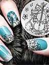 2016 г. Последние шаблон тиснения изображения пластины версия мода шаблон скрипка цветок искусства ногтя