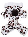 Gato Cachorro Camisola com Capuz Macacao Pijamas Roupas para Caes Fofo Casual Leopardo Marron Rosa claro