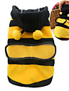 Cat Dog Costume Hoodie Dog Clothes Summer Spring/Fall Animal Cute Cosplay Yellow