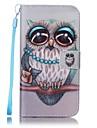 용 지갑 / 카드 홀더 / 스탠드 케이스 풀 바디 케이스 부엉이 하드 인조 가죽 Samsung S7 edge / S7 / S6 edge / S6 / S5