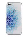 Pour iPhone X iPhone 8 iPhone 7 iPhone 6 Coque iPhone 5 Etuis coque Relief Motif Coque Arriere Coque Fleur Flexible PUT pour Apple iPhone