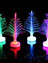 fibre optique arbre de Noël a conduit coloré couleur petit arbre de noël couleur aléatoire