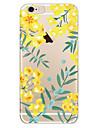 Pour Coque iPhone 7 Coques iPhone 7 Plus Coque iPhone 6 Etuis coque Ultrafine Motif Coque Arriere Coque Fleur Flexible PUT pour Apple