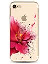 Para Estampada Capinha Capa Traseira Capinha Flor Macia TPU para Apple iPhone 7 Plus iPhone 7 iPhone 6s Plus/6 Plus iPhone 6s/6