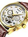 KINYUED Муж. Нарядные часы Часы со скелетом Модные часы Наручные часы Механические часы С автоподзаводомКалендарь Секундомер Защита от
