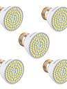 5pcs ywxlight® e26 / e27 gu5.3 (mr16) gu10 72led 5w 2835smd 400-500lm projecteur blanc chaud / froid / naturel (courant alternatif 110v / 220v)