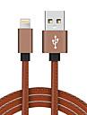 Lightning USB 2.0 Tresse Haut debit Plaque or Cable Pour iPhone iPad MacBook MacBook Air MacBook Pro cm Cuir PU Aluminium