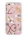 케이스 커버 초박형 패턴 뒷면 커버 케이스 만화 소프트 tpu 아이폰 7 플러스 7 6s 플러스 6 플러스 6s SE 5s 5
