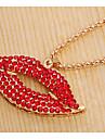 Femme Pendentif de collier Colliers chaines Strass Imitation de diamant Bijoux Alliage Basique Original Pendant Stras Naturel Amitie