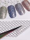 12 Adesivos para Manicure Artistica Transferencia de agua adesivo maquiagem Cosmeticos Designs para Manicure