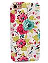 Para Apple iphone 7 7 plus 6s 6 mais capa de capa flor padrao decalque cuidado de pele toque pc material caixa de telefone