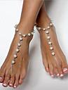 Femme Bracelet de cheville/Bracelet Imitation de perle Cuivre Mode bijoux de fantaisie Balle Bijoux Pour Quotidien Vetements de Plein Air