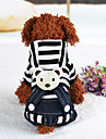Dog Dress Harness Dog Clothes Casual/Daily Stripe Black Red
