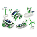 cheap Speakers-6 In 1 Robot Toy Cars Solar Powered Toys Space Toys Science & Discovery Toys Toys Solar Powered ABS Plastic Pieces Boys' Girls' Gift