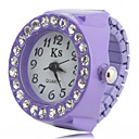 cheap Modules-Women's Ring Watch Wrist Watch Japanese Quartz Imitation Diamond Plastic Band Sparkle Fashion Black / White / Pink - Black Purple Pink One Year Battery Life / SSUO SR626SW