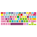 """hesapli iPhone Kılıfları-renkli tasarım klavye kapağı 13 """"15"""" için macbook pro mac klavye kapakları"""
