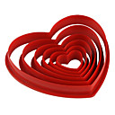 cheap Baking Tools & Gadgets-Bakeware tools Plastic Eco-friendly / Valentine's Day / DIY For Cake / For Cookie / For Pie Mold 6pcs