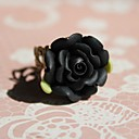 Buy Lolita Jewelry Gothic Ring Victorian Black Accessories Floral Men / Women Resin Alloy